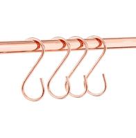 Rose Gold Metal Hanging Hooks - Set Of 10